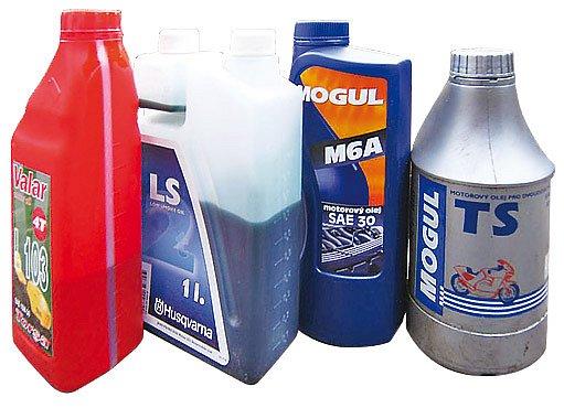 Oleje využitelné v zahradních strojích