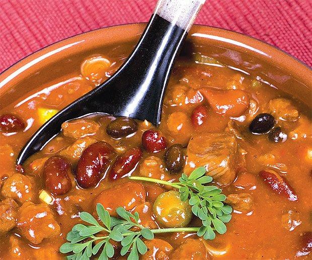 mexický fazolový guláš