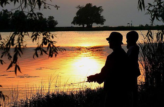 Na rybách se synem