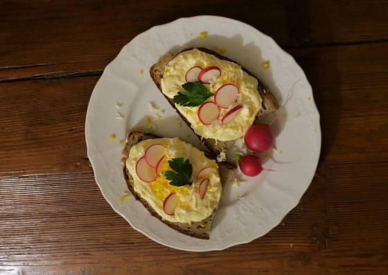 Vajíčková pomazánka - oblíbená klasika.