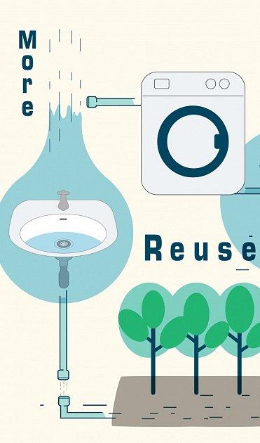 Zahradu můžeme napojit i odpadní vodou