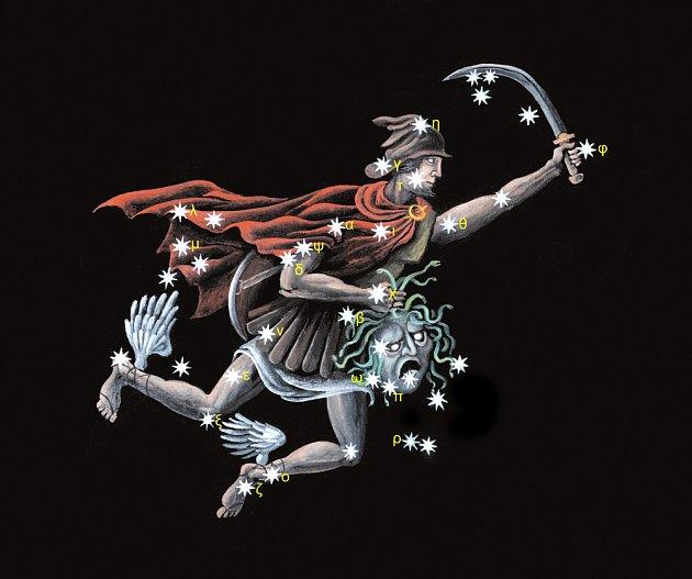 Obrazec souhvězdí Persea tvoří 19 hvězd.