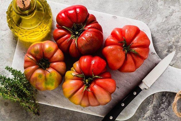 rajče odrůdy Brandywine Black