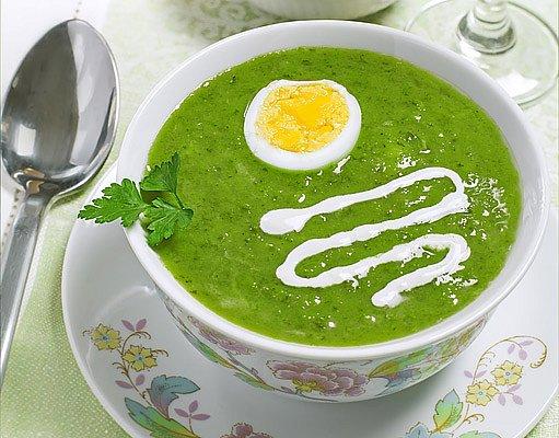 jarní vajíčková polévka