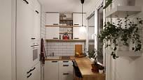 U garsonek bývá největší problém v nedostatku místa v kuchyňské části.