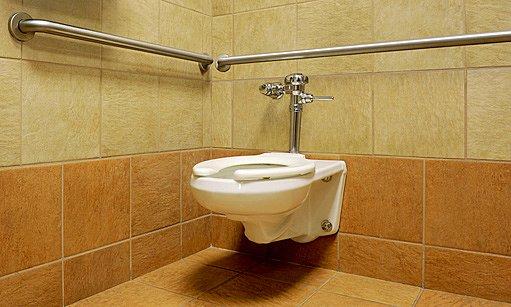 madla na toaletě