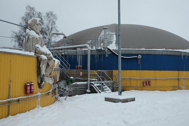 bioplynku střeží Karel Havlíček Borovský. Technologie pochází z Brixenu