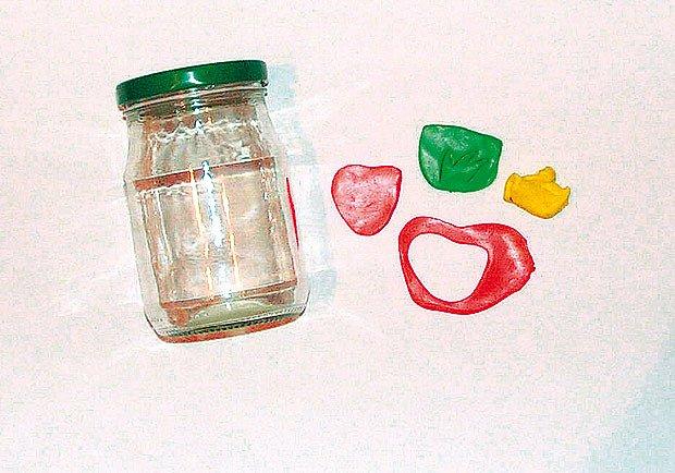 FIMO dekorace na zavařovací sklenice