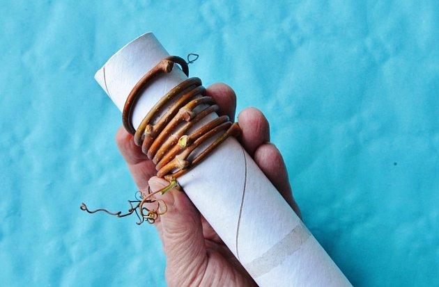 S tvarováním výhonů pomůže papírová rulička