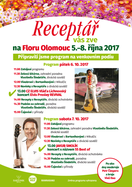 Program časopisu Rceptář na podzimní Flóře Olomouc