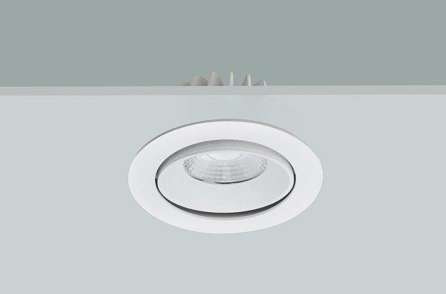 Downlight se nazývá reflektor, který bodově svítí od stropu k podlaze a zpravidla je buď zapuštěný, nebo připevněný na konzoli.