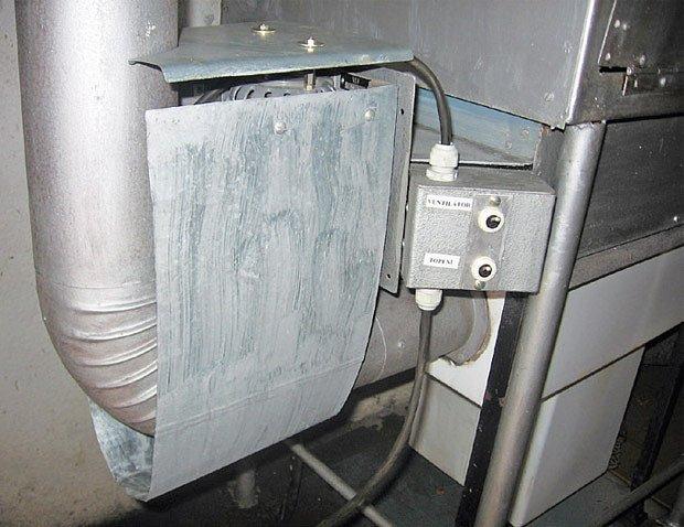spínač ventilátoru a topné spirály