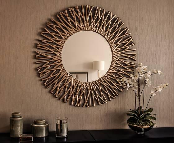 Některé rámy k zrcadlům si můžeme sami vytvořit.