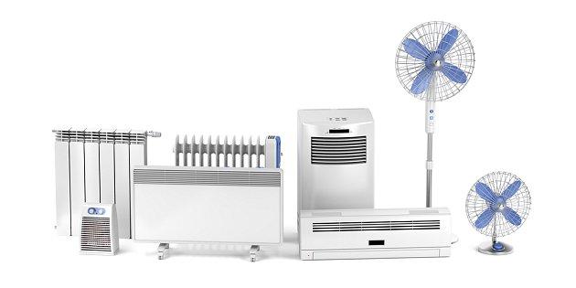 Nabídka klimatizací i radiátorů je široká.