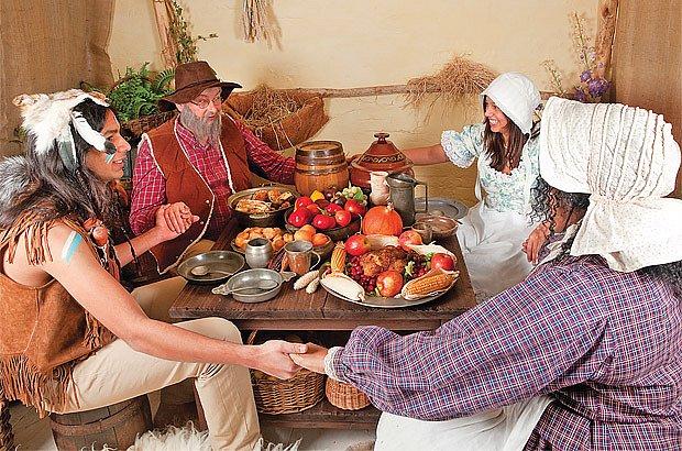 Angličtí kolonisté přežili první zimu na americkém kontinentě jen díky potravinám od indiánů.