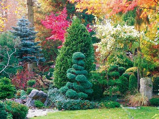 nejstarší část zahrady s tekoucím pramenem