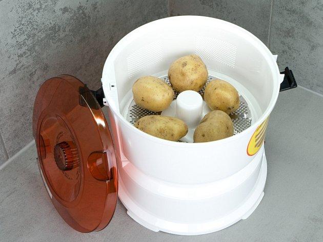 Elektrický přístroj na škrábání brambor.