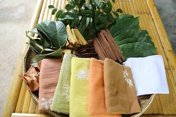 Přírodní barviva na textil a ukázka jejich působení.