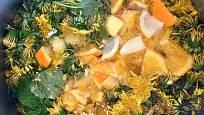 Domácí pampeliškový med s meduňkou a pomerančem.