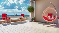 Zajímavý exteriérový nábytek dodá kouzlo každé terase, i té střešní.
