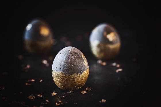 zdobená betonová vejce
