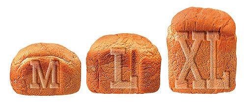 velikost bochníku z domácí pekárny