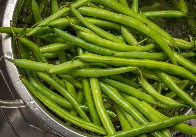Zelené fazolky obsahují spoustu vlákniny.