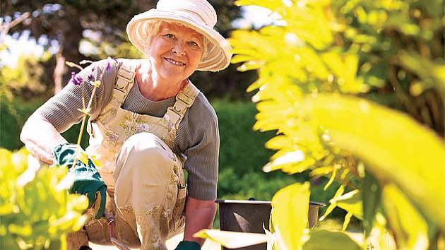 Při práci na zahradě je potřeba věnovat pozornost poloze těla a nezapomenout na protažení.