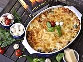 Vegetariánské lasagne podle Jessicy Koch.