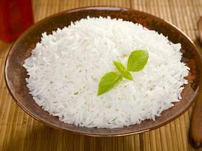 Vařená rýže basmati.