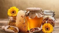 Včelí med, vosk, propolis a pyl neboli včelí chléb