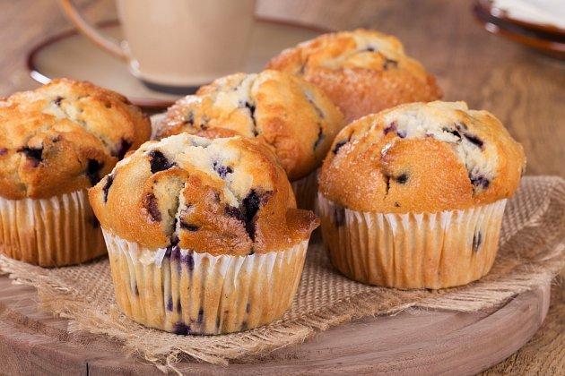 Borůvkové muffiny jsou oblíbenou klasikou.