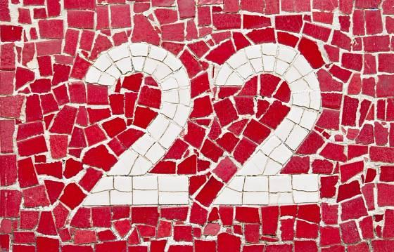 Mozaika posloužila k vytvoření domovního čísla.