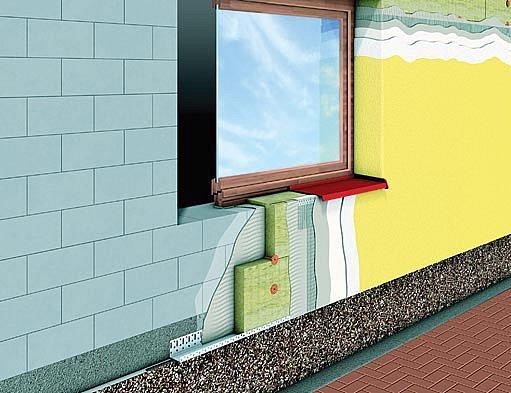 zateplení fasády - schéma