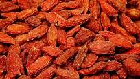 Goji - kustovnice čínská (sušená) označovaná také jako superpotravina.