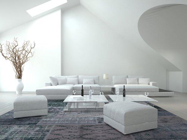 Krásně řešený interiér, ale bílé je zkrátka příliš... a to i z praktického hlediska zachování čistoty.