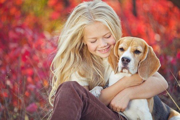 Děti tvoří se psy nerozlučné dvojice.