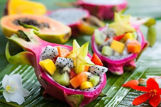 Exotické ovoce chutná nejlépe čerstvé