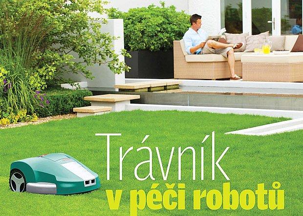 trávník v péči robotů