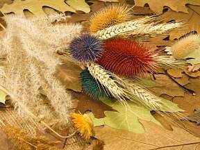 K podzimnímu aranžování můžeme využít i listy.