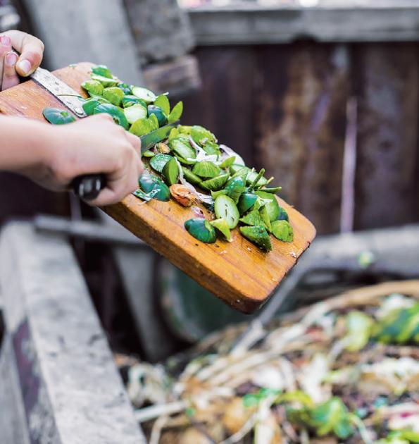 Kompost zpracuje odpad z kuchyně