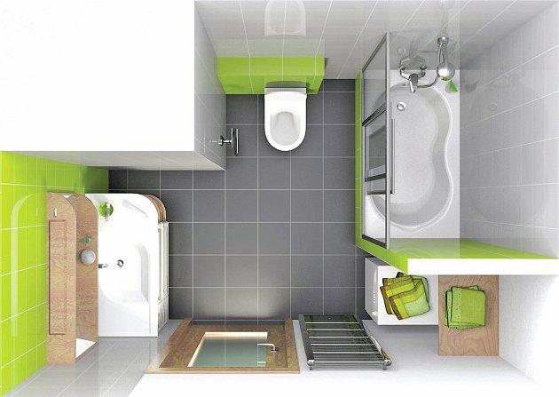 Varianty nové koupelny na místě panelákového jádra