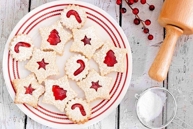 Linecké pečivo slepované marmeládou