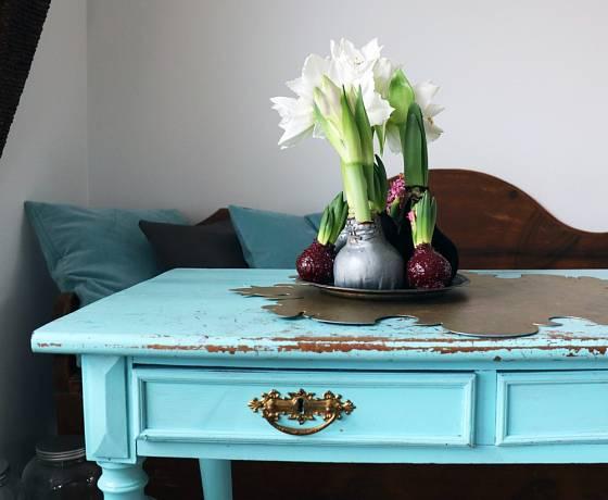 Cibule hvězdníků a hyacintů se někdy prodávají i obalené speciální voskovou vrstvou.