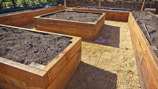 Accessible Kitchen Garden Brick Floor