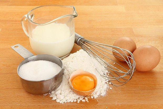 ingredience pro vaření knedlíku