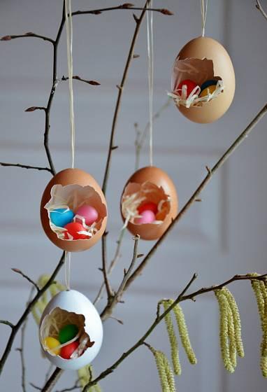 5 Hnízda se krásně vyjímají na větvičce