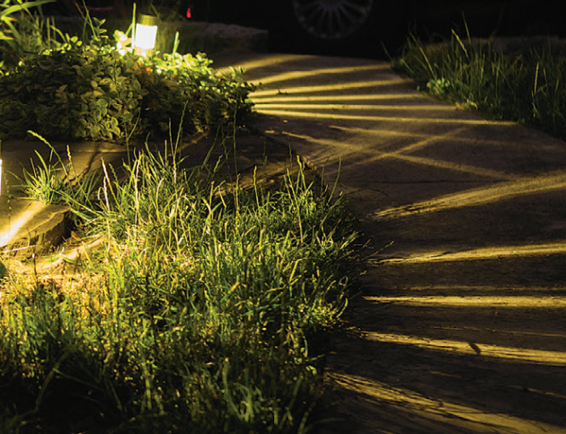 Hra světel a stínů na cestičce