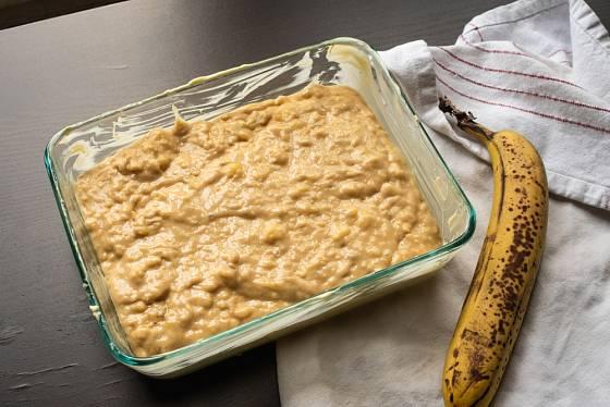 Banánový koláč z fazolí