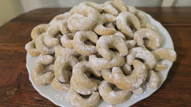 Vanilkové rohlíčky patří mezi nejoblíbenější druhy vánočního cukroví.